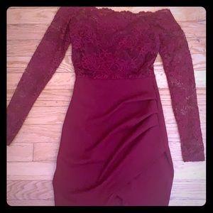 Offf the shoulder dress